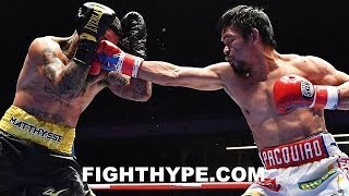 PACQUIAO DESTROYS MATTHYSSE IN 7; FULL FIGHT AFTERMATH - INTERVIEWS AFTER 3 KNOCKDOWNS