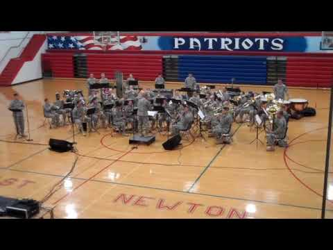 Army Band performing at East Newton High School on Nov. 6, 2009 - Song 2