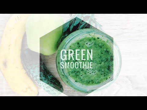 Simple Green Smoothie. Зеленый коктейль. Рецепт зеленого смузи.Правильное питание.Вегетарианство