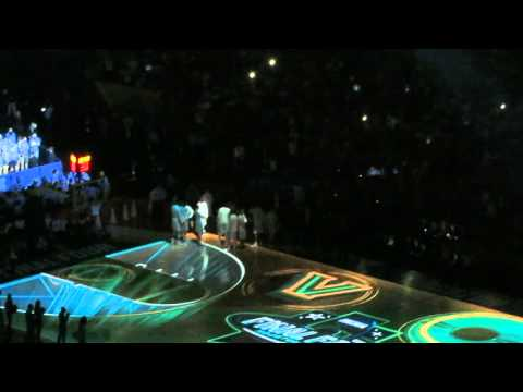 Villanova Starting Line Up Intro at NCAA Championship Game