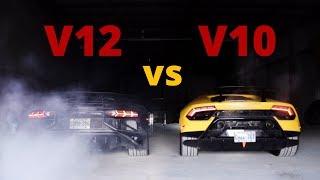 Lamborghini Cold Start Comparison - v12 vs v10