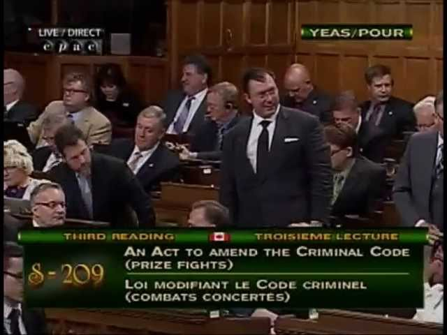 Canadian House of Commons Passes S-409 Allowing MMA