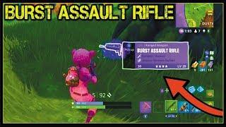 Fortnite: BURST ASSAULT RIFLE GAMEPLAY! *NEW* BURST GUN UPDATE GAMEPLAY