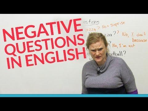 Learn Grammar: Negative Questions in English