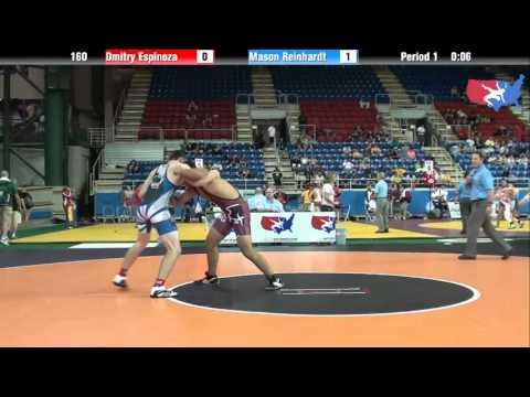 Fargo 2012 160 Round 2: Dmitry Espinoza (Illinois) vs. Mason Reinhardt (Wisconsin)