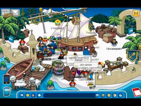 Club Penguin - Meeting Rockhopper Adventure Party 2011