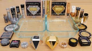 Silver vs Gold - Mixing Makeup Eyeshadow Into Slime Special Series 218 Satisfying Slime Video