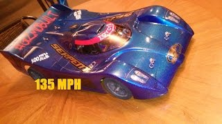 135 MPH SERPENT 966 BIGBLOCK 1717 BRUSHLESS GIZMOBUILT SPEED RUN