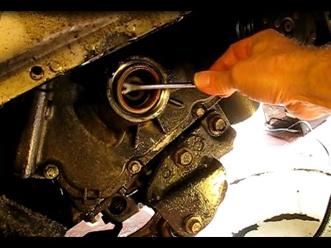 How to replace the crankshaft oil seal on a 2.2L GM Ecotec engine