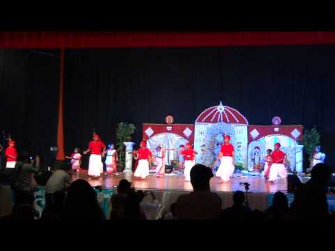 Dhaker Tale Komor Dole - Tampa Puja 2012 Kids Dance video