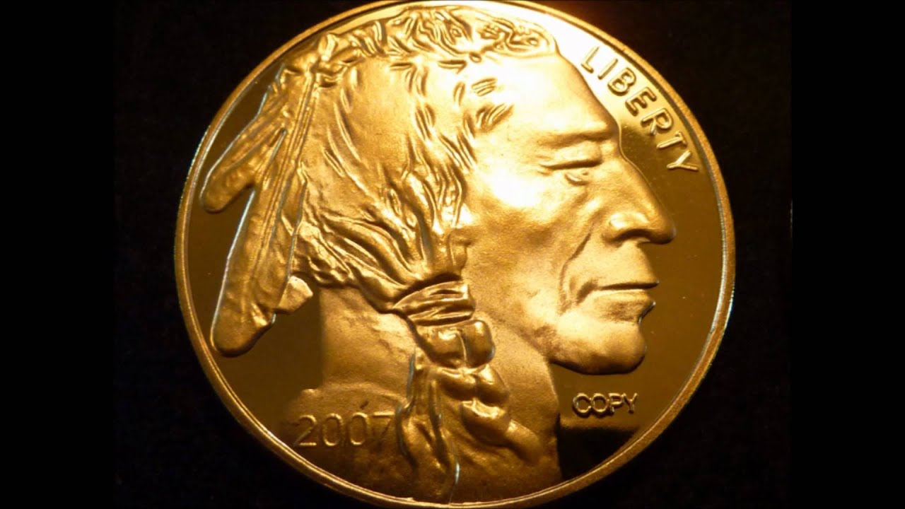 1 Troy Ounce 24k 999 Fine Gold Plated 50 Buffalo Replica