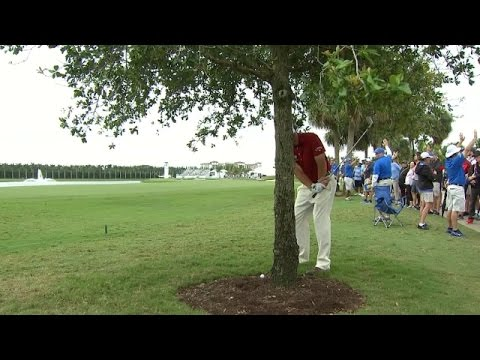 Phil Mickelson's amazing banana hook at Cadillac Championship