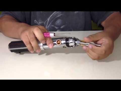 Full size e-cig Star Wars lightsaber mod with a kick. V2.0