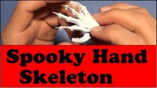 Fold A Spooky Origami Hand Skeleton! Designed By Jeremy Shafer