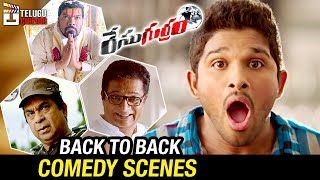 Race Gurram Telugu Movie | Back to Back Comedy Scenes | Allu Arjun | Shruti Haasan | Telugu Cinema