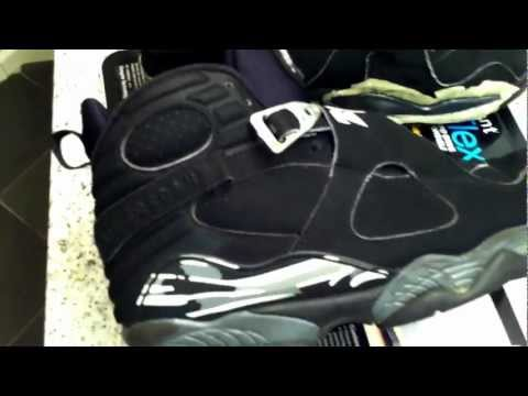 Air Jordan Black / Chrome VIII 8 Retro Midsole Repaint tutorial (pt. 1)