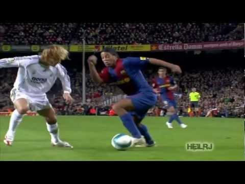 رونالدينيو يهين لاعبي الريال ( مهارات عجيبة ) FULL HD 1080
