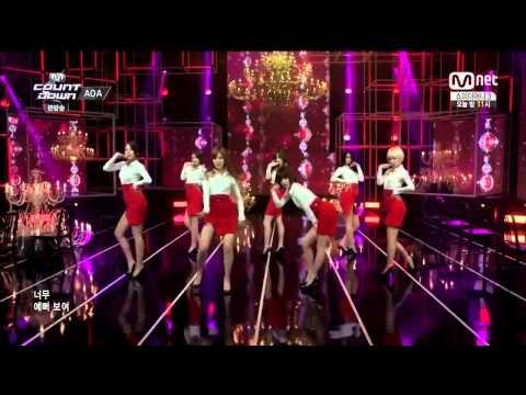 "AOA ""Miniskirt"" M Countdown Special (7/10/2014)"