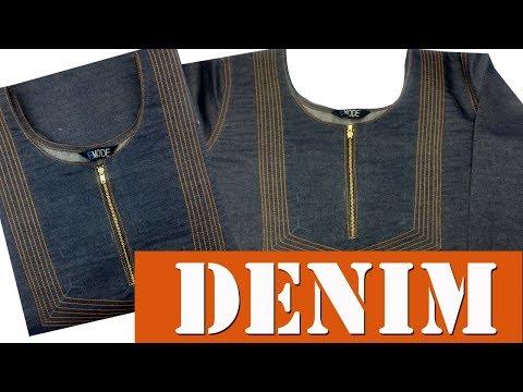 Thread work churidar neck design, formal kurti neck design malayalam