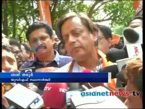 Kerala Election 2014:  Shashi Tharoor on polling boothകേരളം പോളിങ്ങ് ബൂത്തിലേയ്ക്ക്