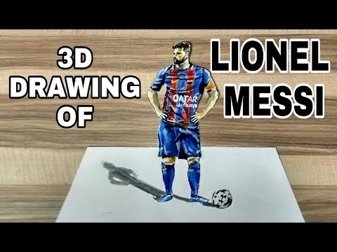 LIONEL MESSI : 3D DRAWING
