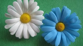 Цветы из фоамирана - ромашки МК./How to make Foam Flower camomile , DIY, Tutorial Foam