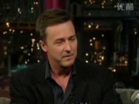 Edward Norton-Late Show