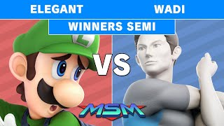 MSM 186 - Elegant (Luigi) vs AG | WaDi (Wii Fit Trainer) Winners Semi - Smash Ultimate