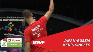 G1 | MS |  Kenta NISHIMOTO (JPN) vs Vladimir MALKOV (RUS) | BWF 2019