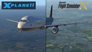 X-Plane 11 vs FSX   Airbusses Departing Cologne/Bonn CGN