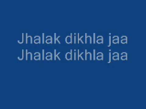 Jhalak Dikhla Jaa lyrics