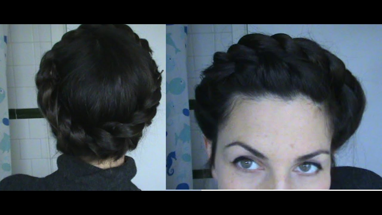 Hairstyles Halo : ... (how to halo plait easy updo hairstyle ) - Vintagious - YouTube