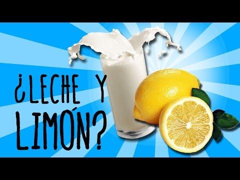 ¿Qué pasa si mezclas leche con limón?