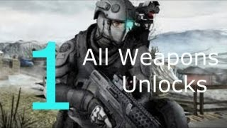 Ghost Recon : Future Soldier- All Weapons, All Unlocks/ Weapon Range part 1 [HD]