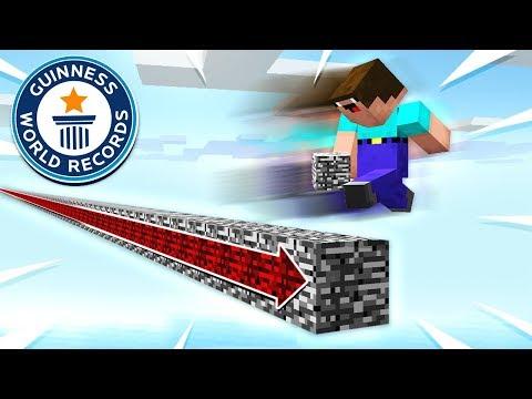BUILDING THE WORLDS LONGEST MINECRAFT BRIDGE!