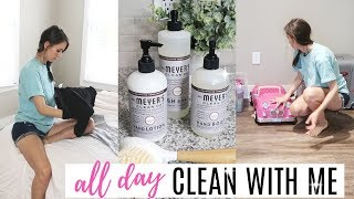 ALL DAY CLEAN WITH ME // CLEANING ROUTINE MOTIVATION // THE SIMPLE LIFE