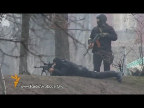 Ukraine Protest: Sniper and riot police filmed opening fire at protesters in Kiev
