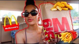 CAR VLOG + MCDONALDS MUKBANG! (EATING SHOW)