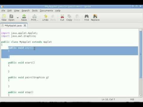 Java Applet Tutorial #1 Introduction