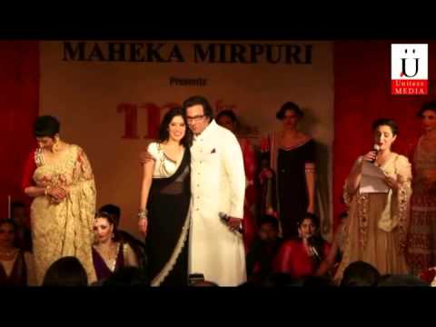 Manish Koirala Walks The Ramp For Maheka Mirpuri