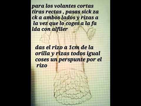 Como cortar un traje de gitana