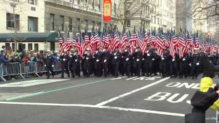 FDNY + Emerald Society Pipes & Drums St. Patricks Day Parade 2013 Part 1