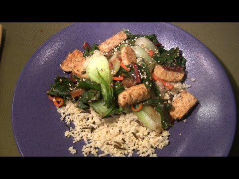 Tempeh Stir Fry with Vegetables Brown Wild Rice and Millet