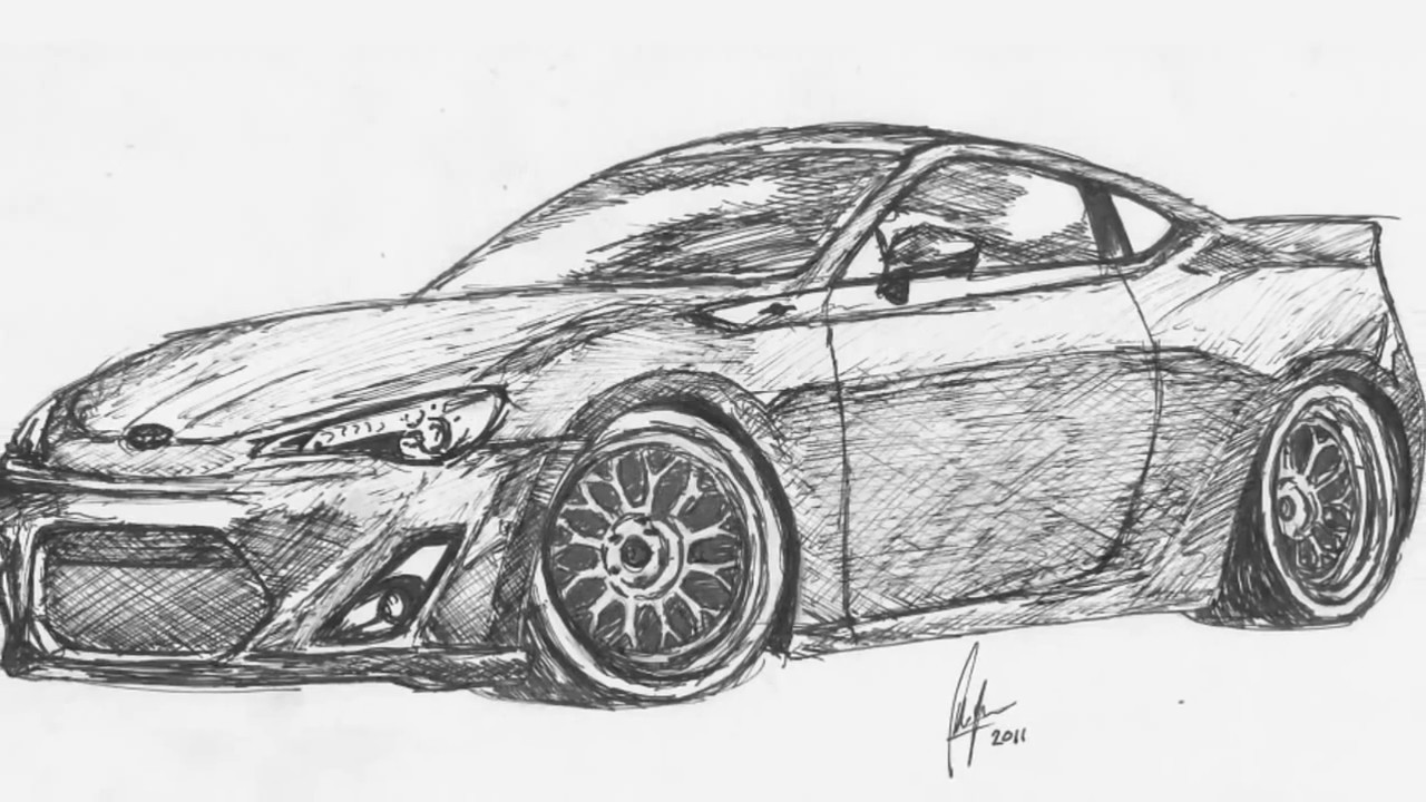 Drawing of the Toyota GT-86 - YouTube