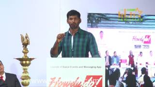 Vishal Launches 'Howdy Do' App