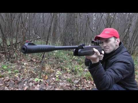 Пневматическая винтовка HATSAN 125 стрельба по шипучим мишеням
