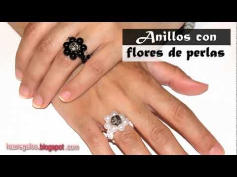 Anillo con Flores de Perlas - DIY - Bead Flower Ring