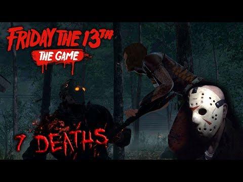 Friday the 13th the game - Gameplay 2.0 - Savini Jason - 7 Deaths