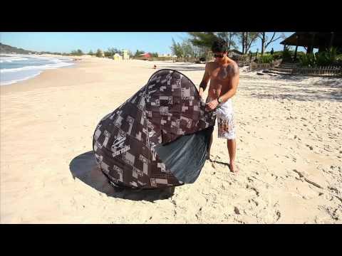 Guía para montagem e desmontagem das barracas Mormaii, modelos Praia Mole 3 e Praia do Sossego, realização MXM Marketing.