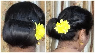 Juda Hairstyle Simple || Juda Hairstyles for everyday with puff || Easy Hairstyles || Hairstyle